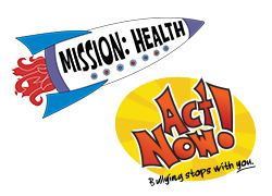 Mission: Health and Act Now logos